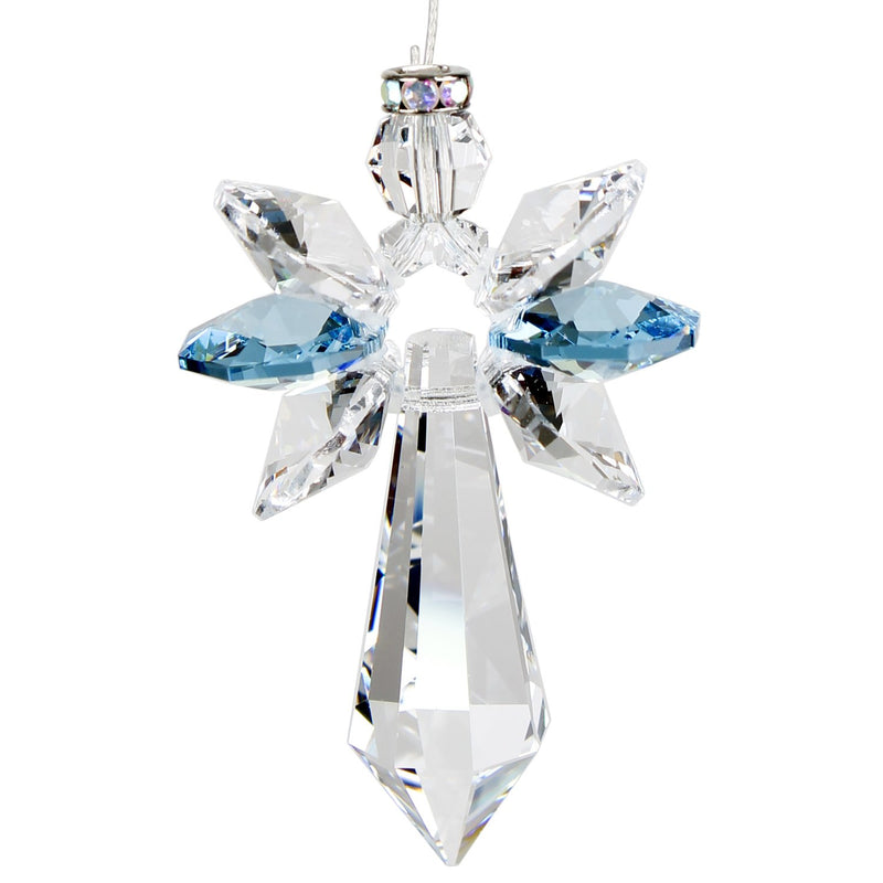 Crystal Guardian Angel Suncatcher - Large, Aquamarine main image