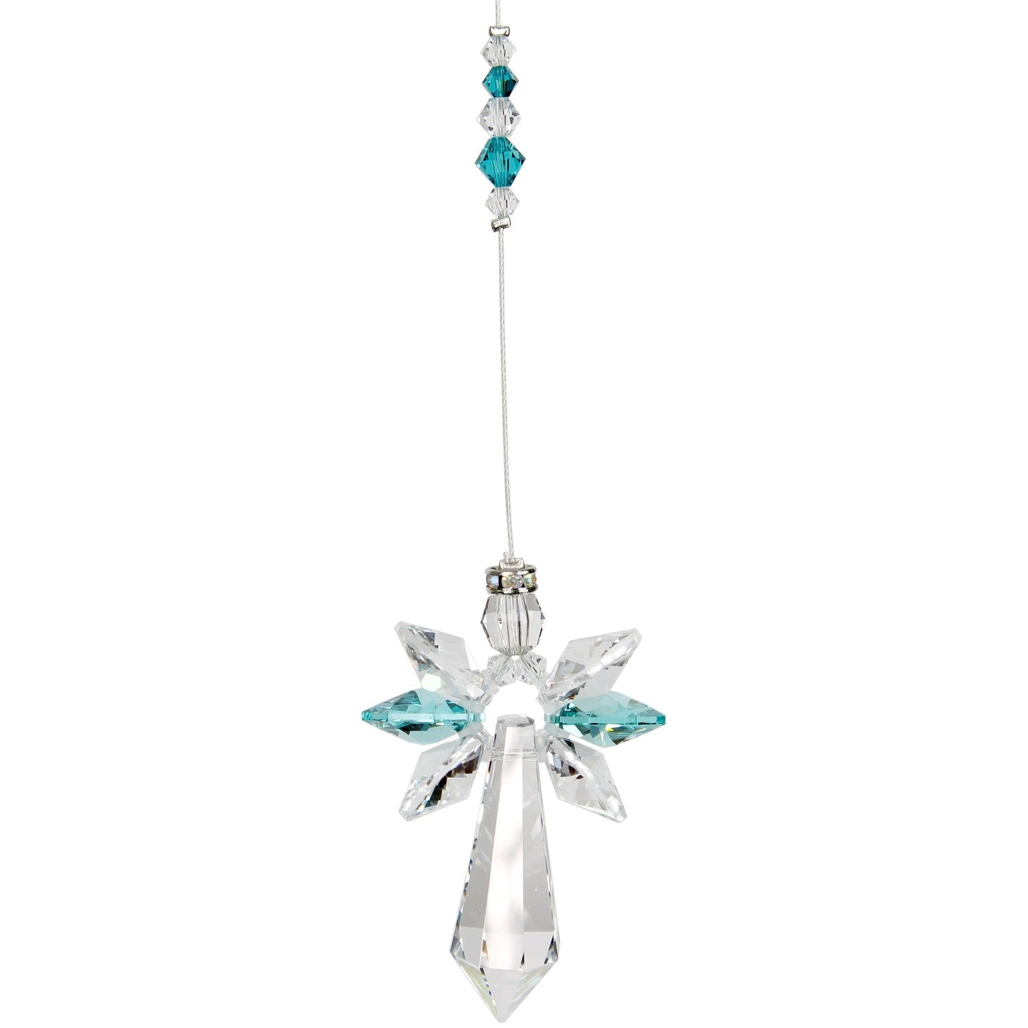 Crystal Guardian Angel Suncatcher - Large, Blue Zircon alternate product image