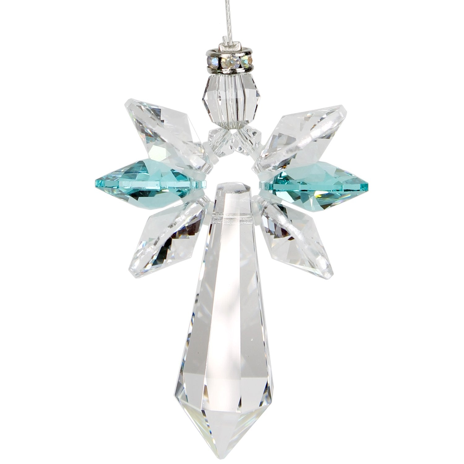Crystal Guardian Angel Suncatcher - Large, Blue Zircon main image