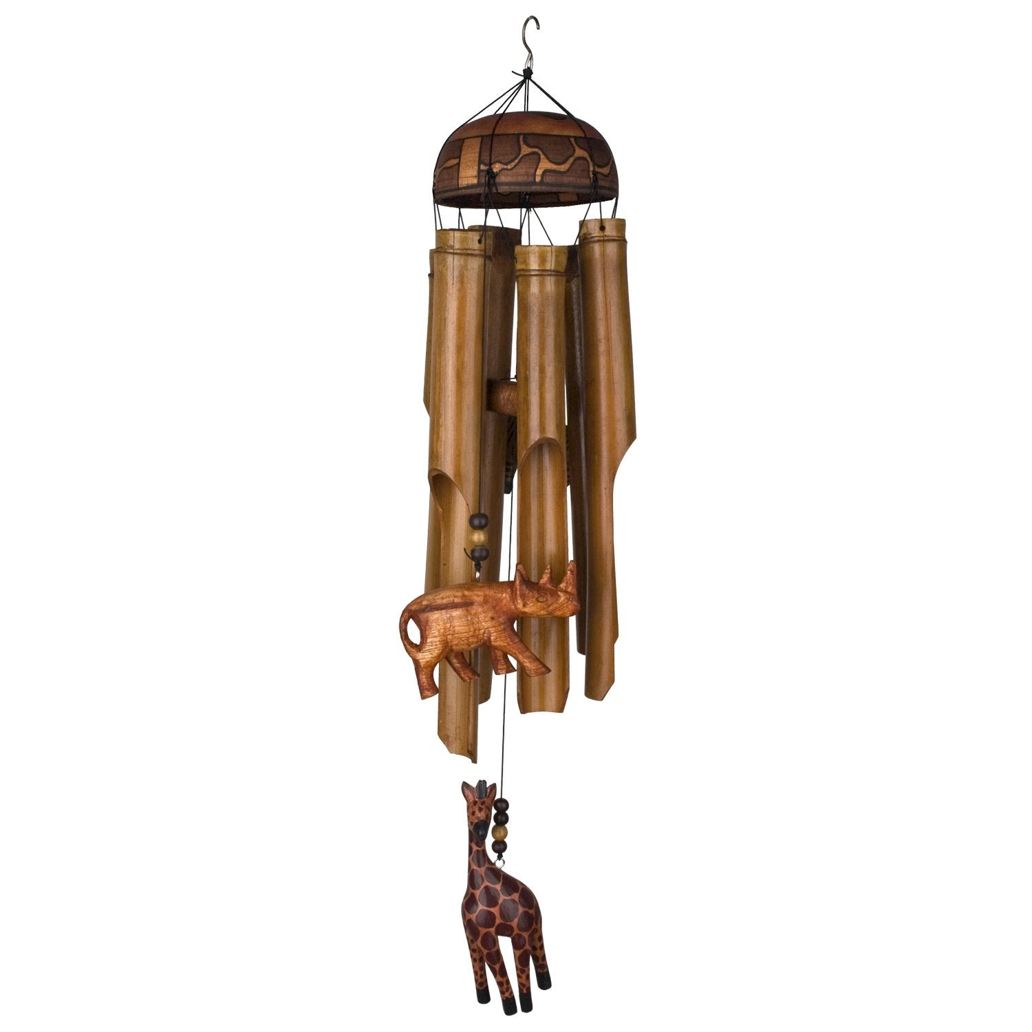 African Trio Bamboo Chime full product image