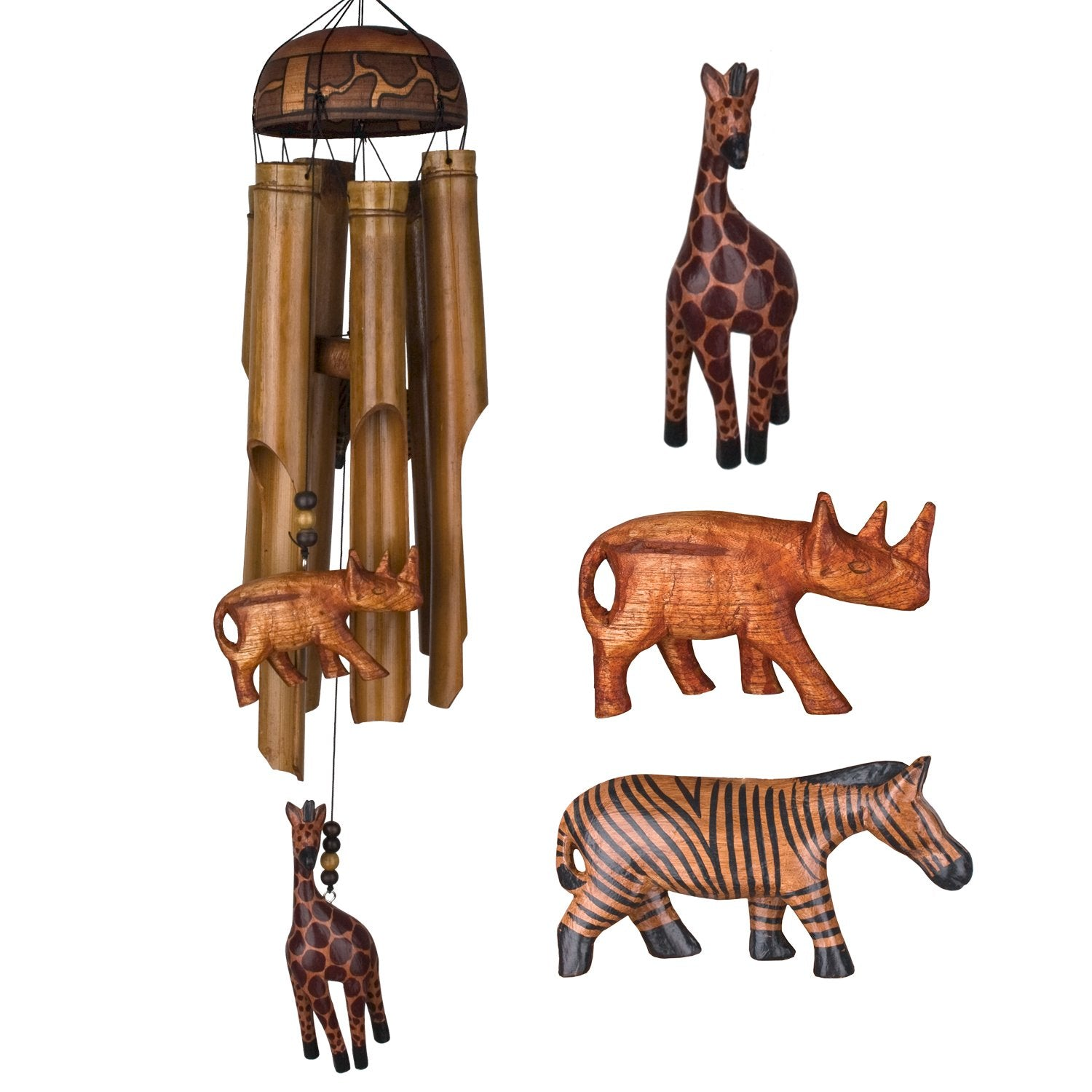 African Trio Bamboo Chime main image