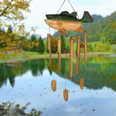 Animal Bamboo Chime - Bass Fish proportion image