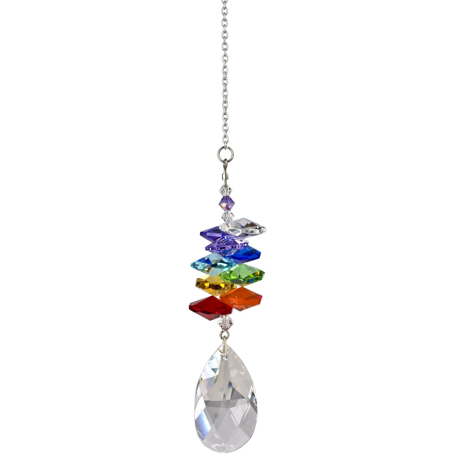 Crystal Rainbow Cascade Suncatcher - Almond alternate product image