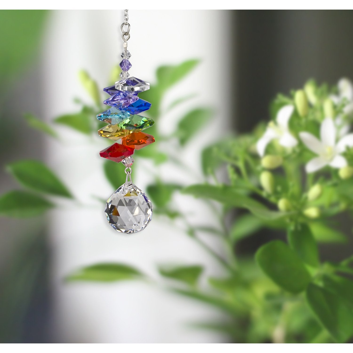 Crystal Rainbow Cascade Suncatcher - Almond alternate lifestyle image