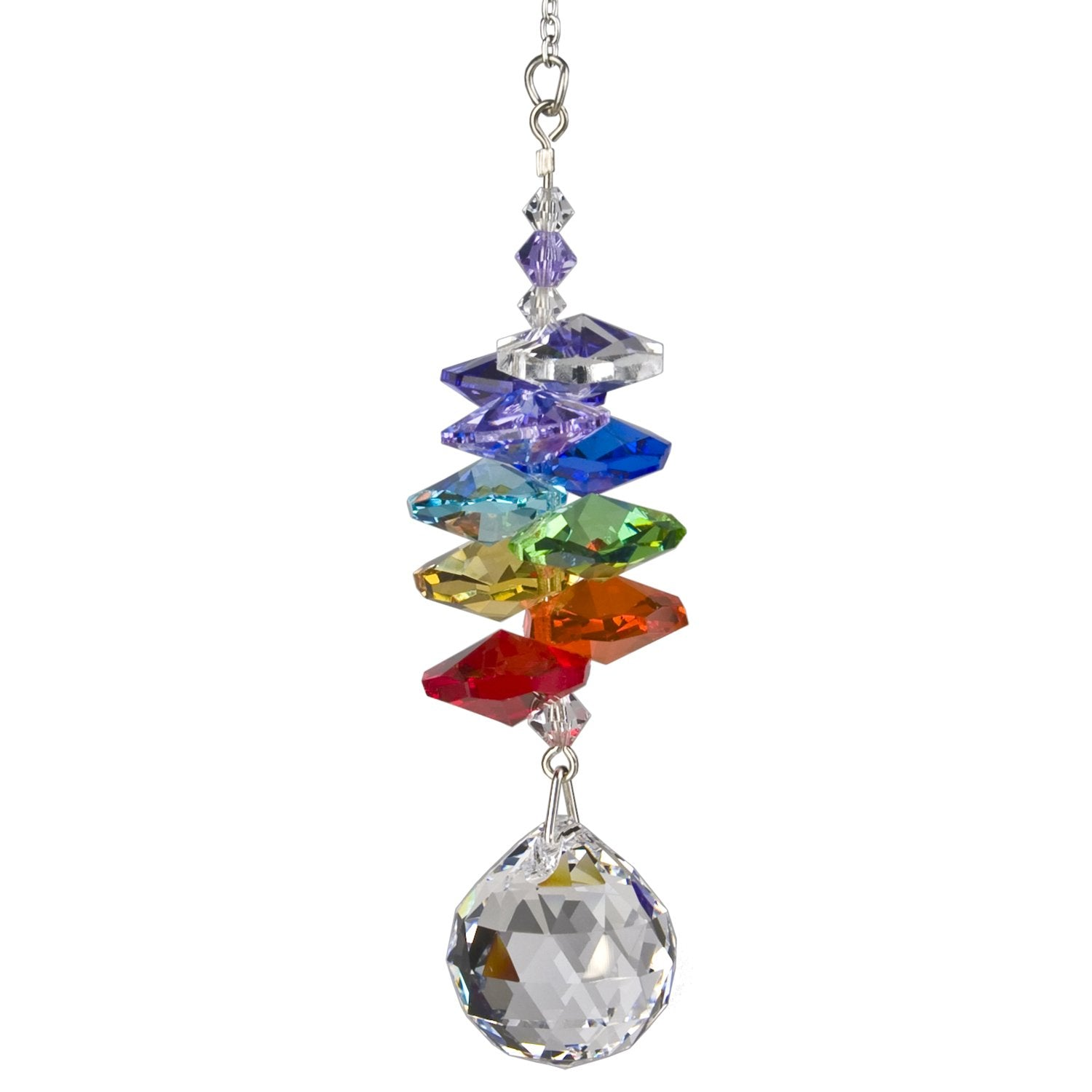 Crystal Rainbow Cascade Suncatcher - Almond main image