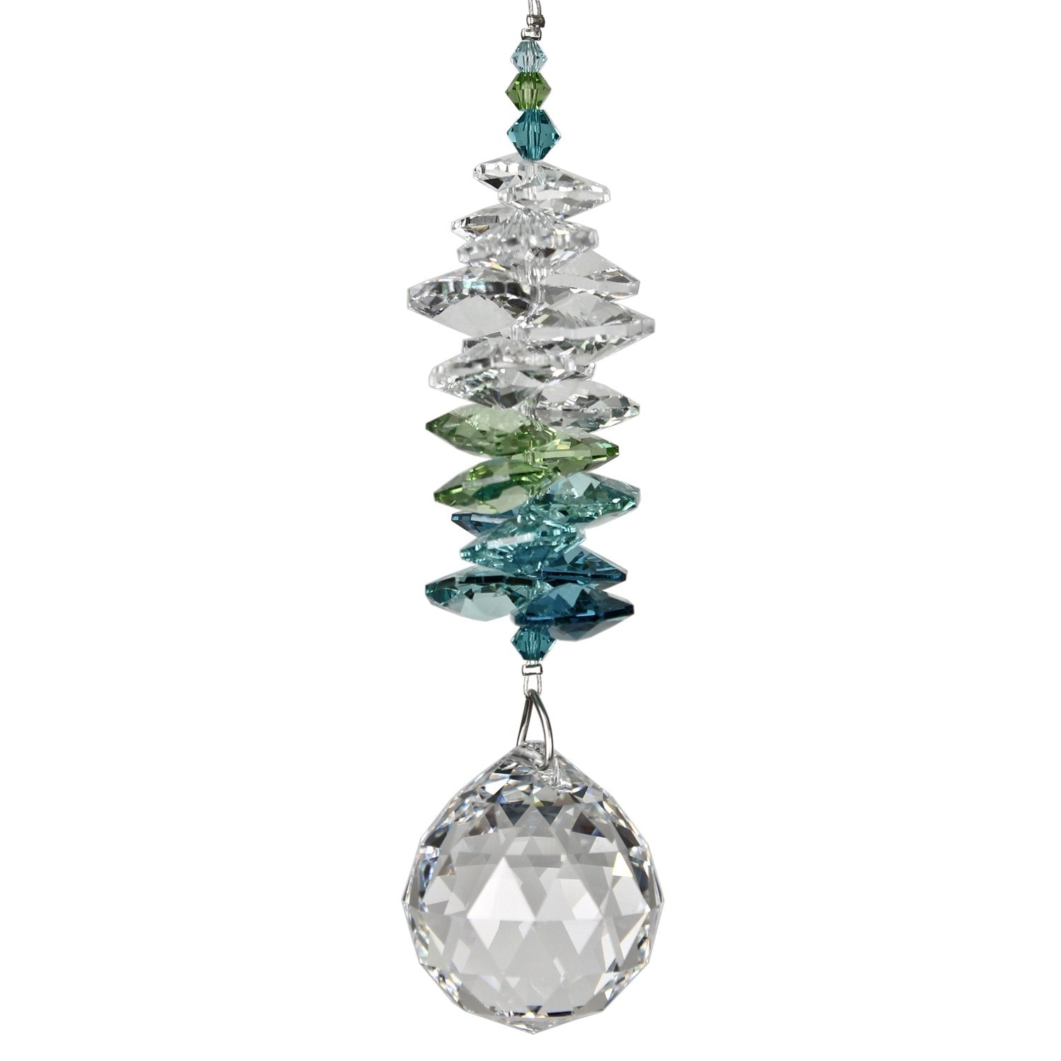 Crystal Grand Cascade Suncatcher - Green main image