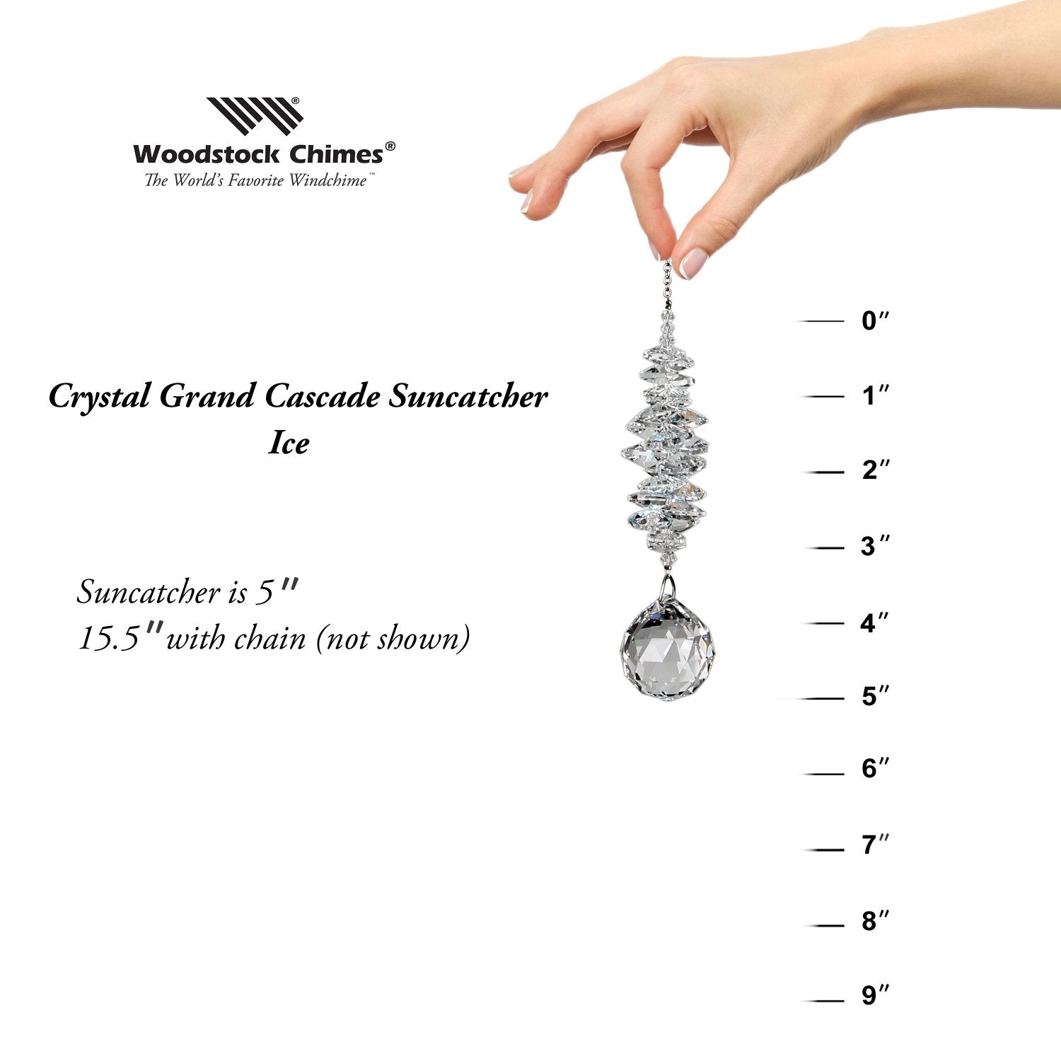 Crystal Grand Cascade Suncatcher - Ice proportion image
