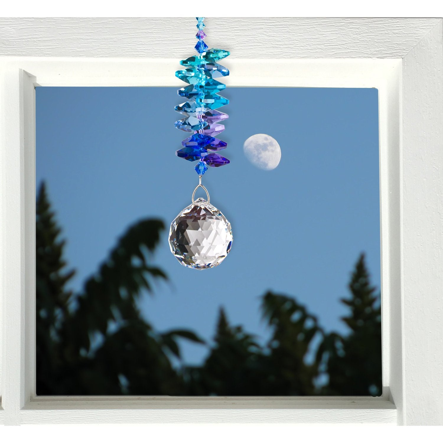 Crystal Grand Cascade Suncatcher - Moonlight lifestyle image