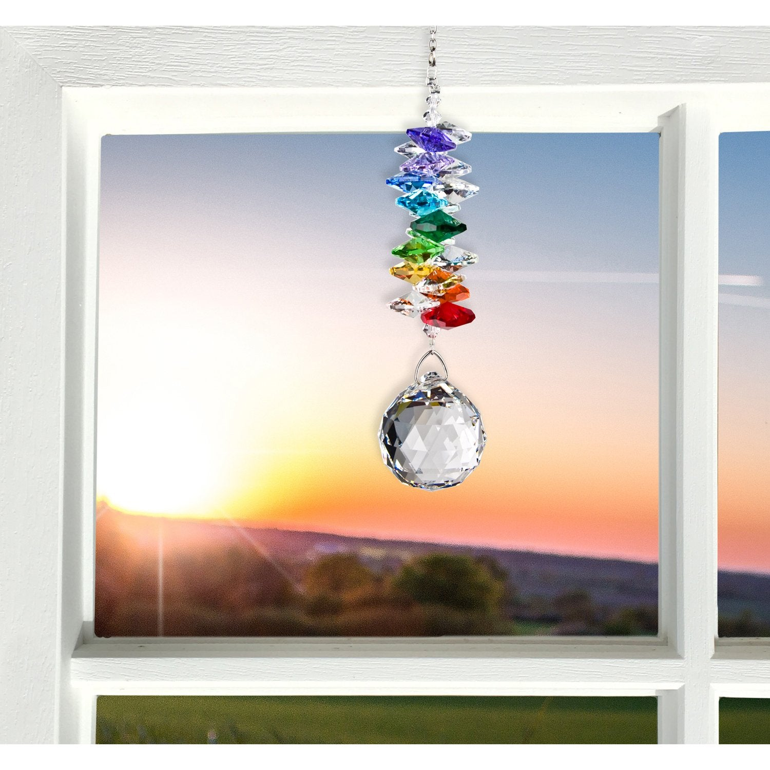 Crystal Grand Cascade Suncatcher - Rainbow lifestyle image
