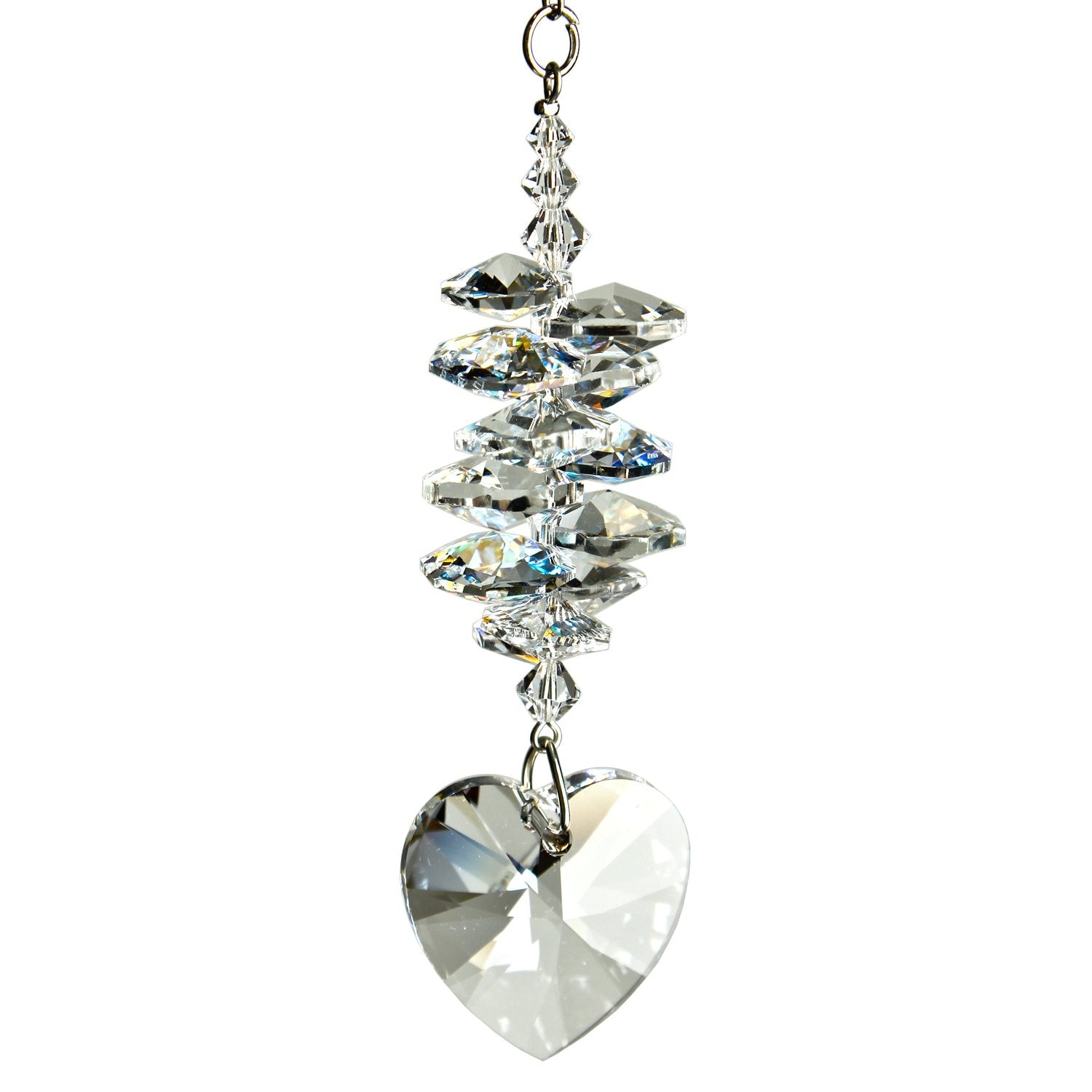 Crystal Heart Cascade Suncatcher - Ice alernate product image