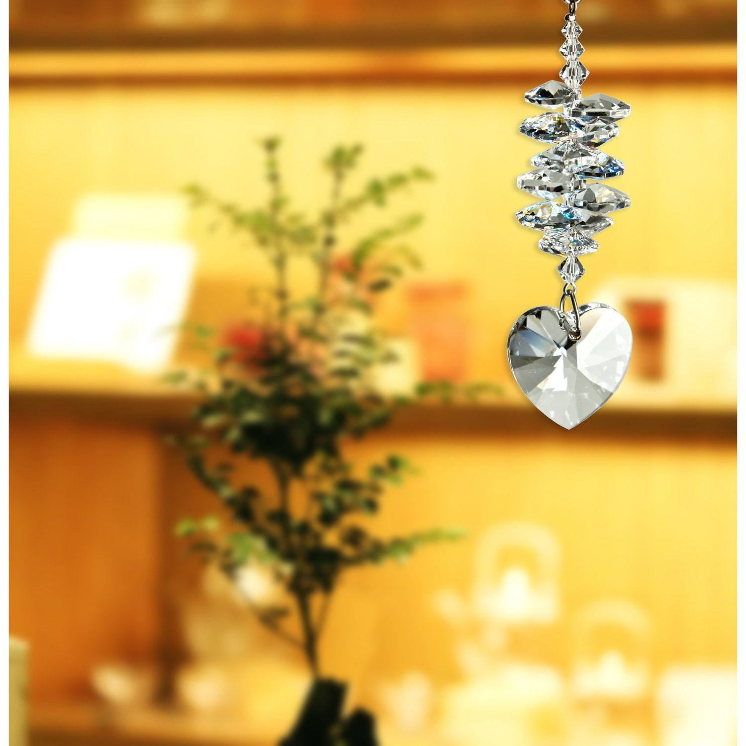 Crystal Heart Cascade Suncatcher - Ice lifestyle image