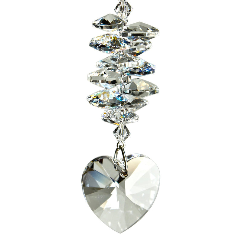 Crystal Heart Cascade Suncatcher - Ice main image