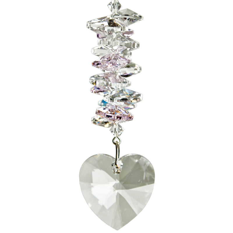 Crystal Heart Cascade Suncatcher - Rose main image