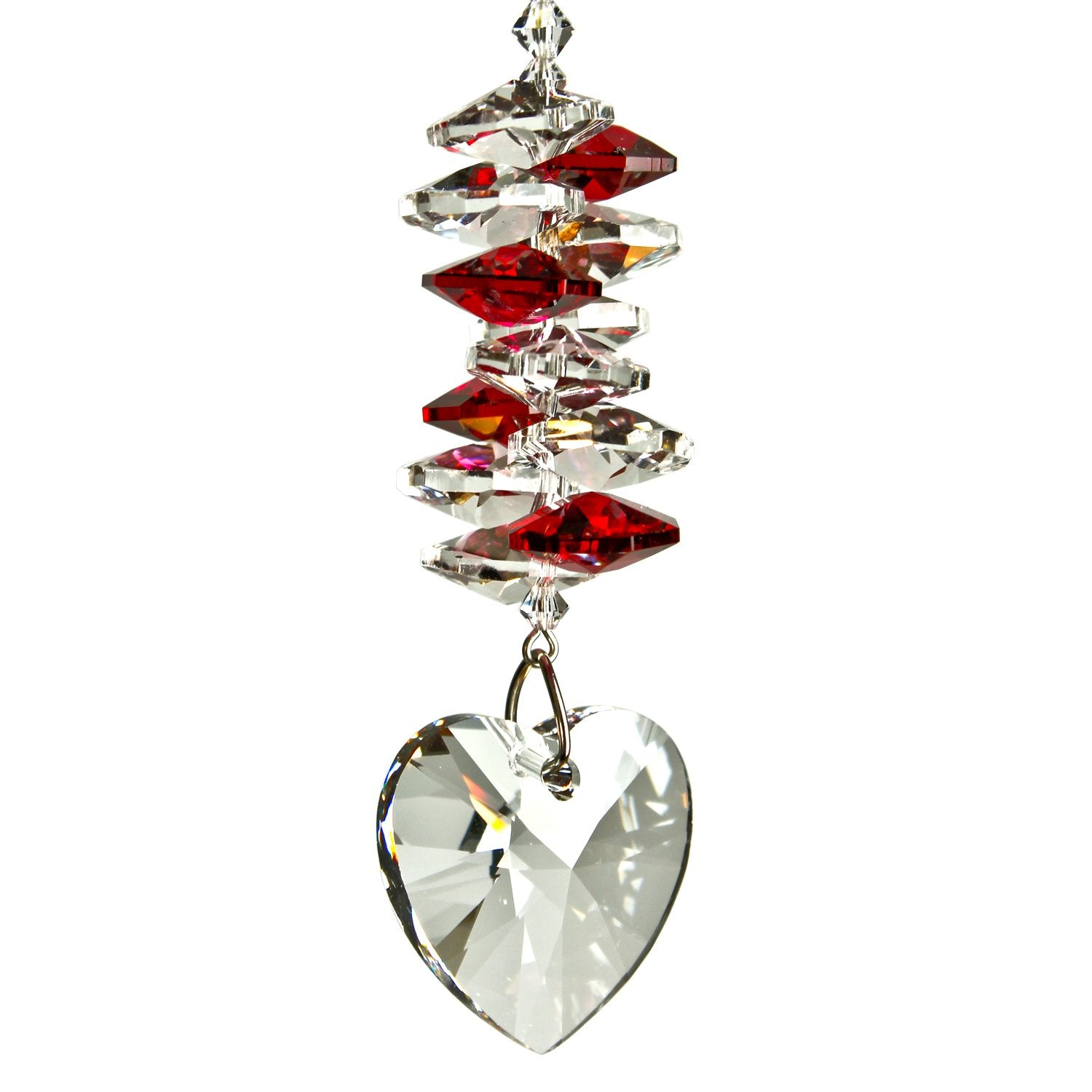 Crystal Heart Cascade Suncatcher - Ruby main image
