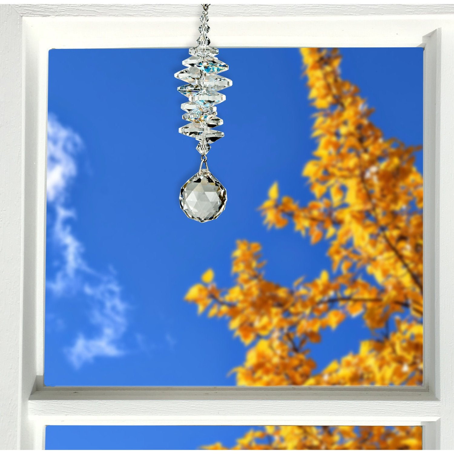Crystal Ice Cascade Suncatcher - Ball lifestyle image