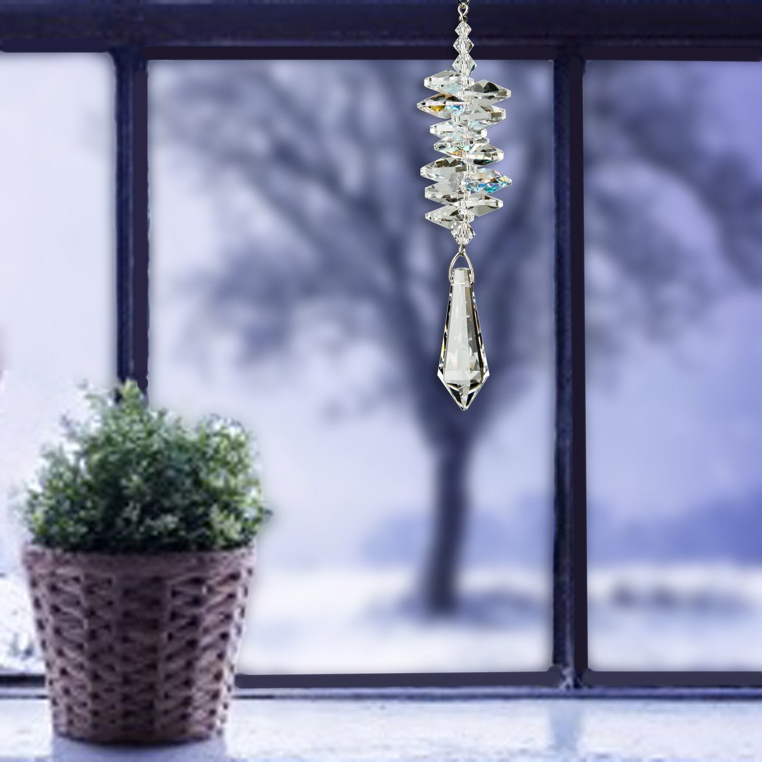 Crystal Ice Cascade Suncatcher - Icicle lifestyle image