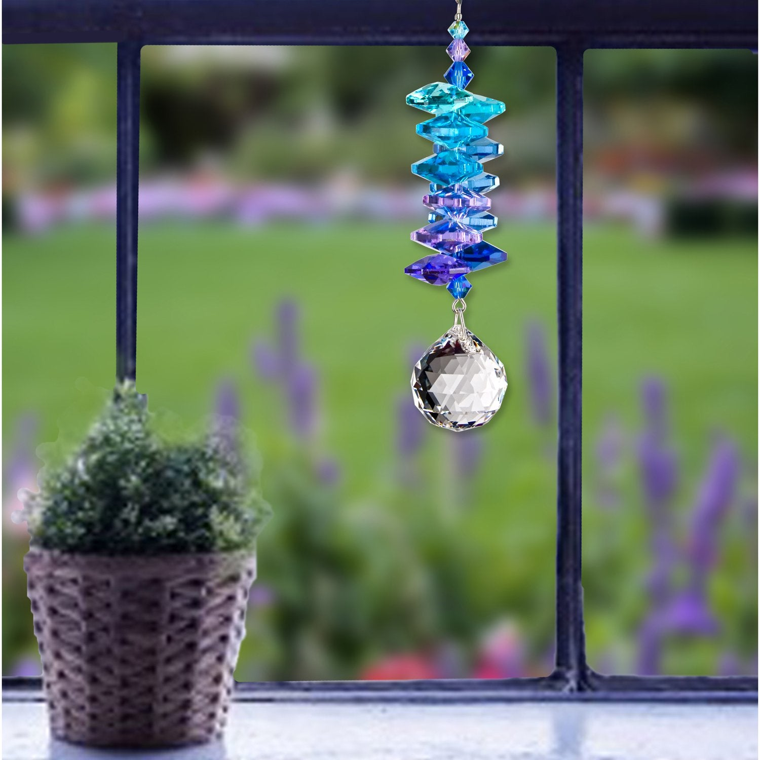 Crystal Moonlight Cascade Suncatcher - Ball lifestyle image