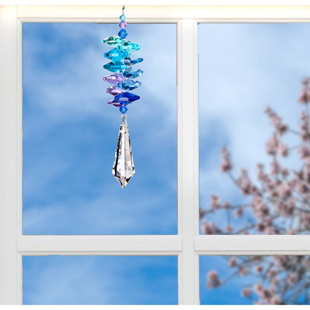 Crystal Moonlight Cascade Suncatcher - Icicle proportion image