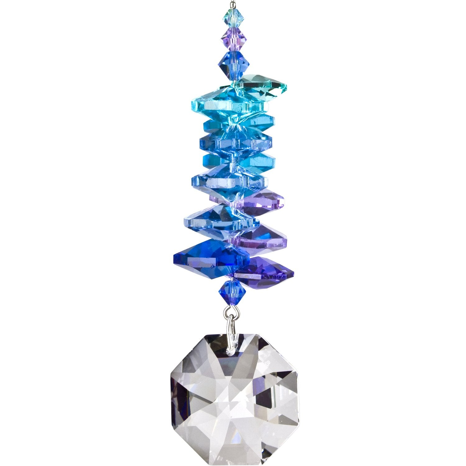 Crystal Moonlight Cascade Suncatcher - Octagon main image