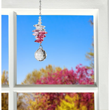 Crystal Sunrise Cascade Suncatcher - Pink proportion image