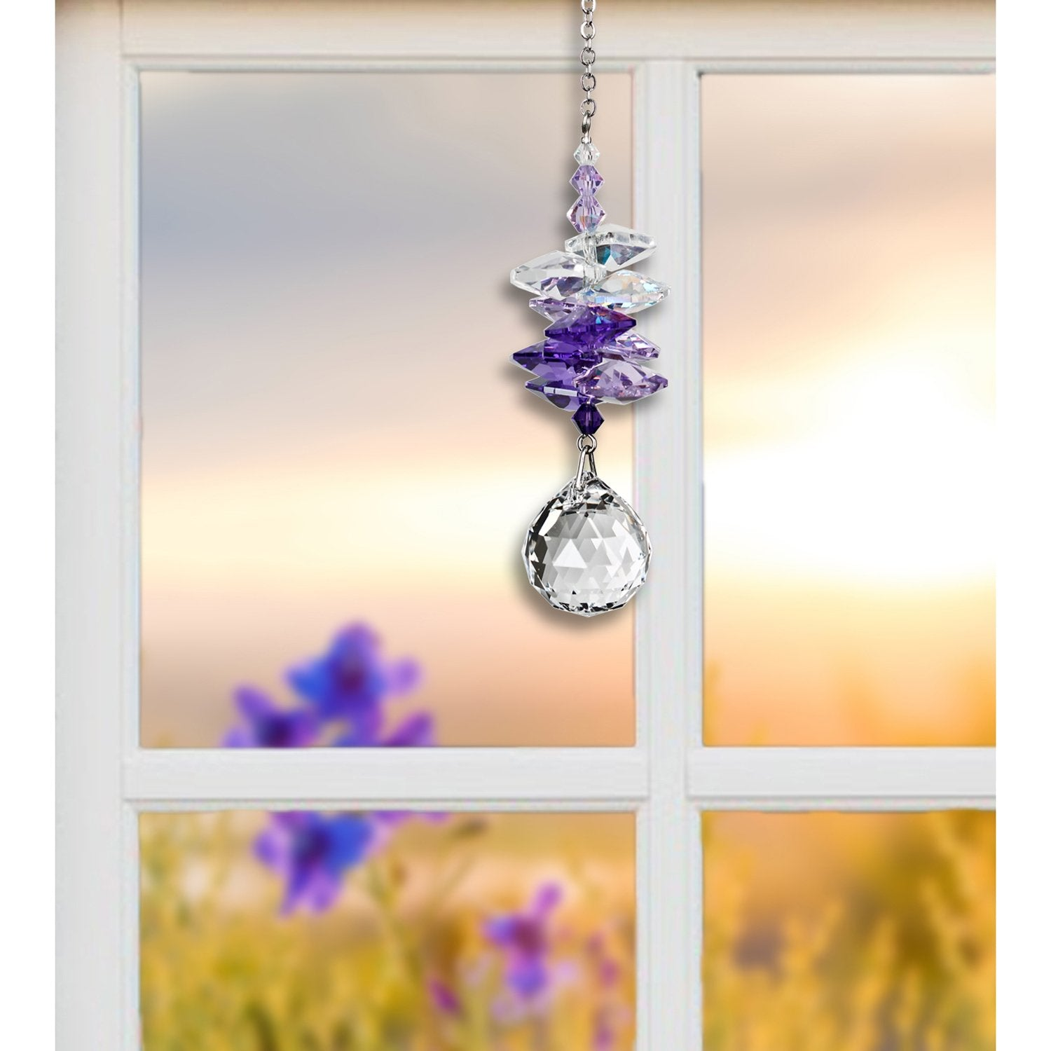 Crystal Sunrise Cascade Suncatcher - Purple lifestyle image