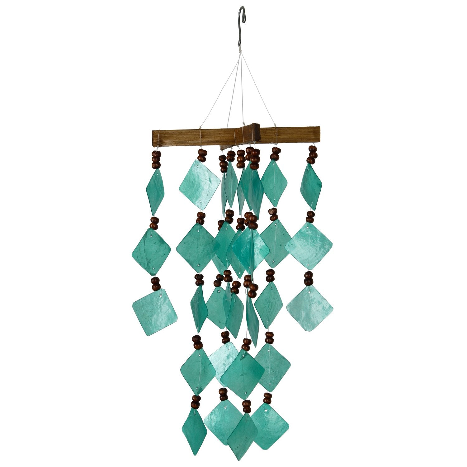 Diamond Capiz Chime - Green full product image