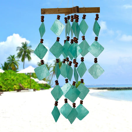 Diamond Capiz Chime - Green proportion image
