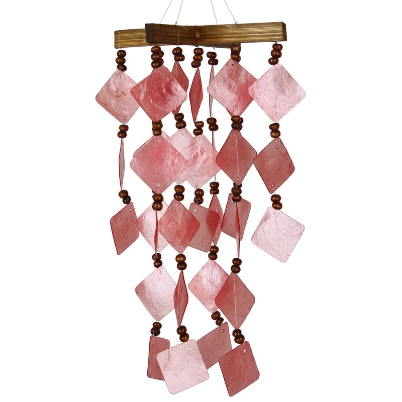 Diamond Capiz Chime - Red main image