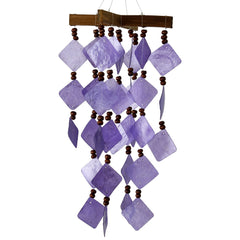 Diamond Capiz Chime - Purple main image