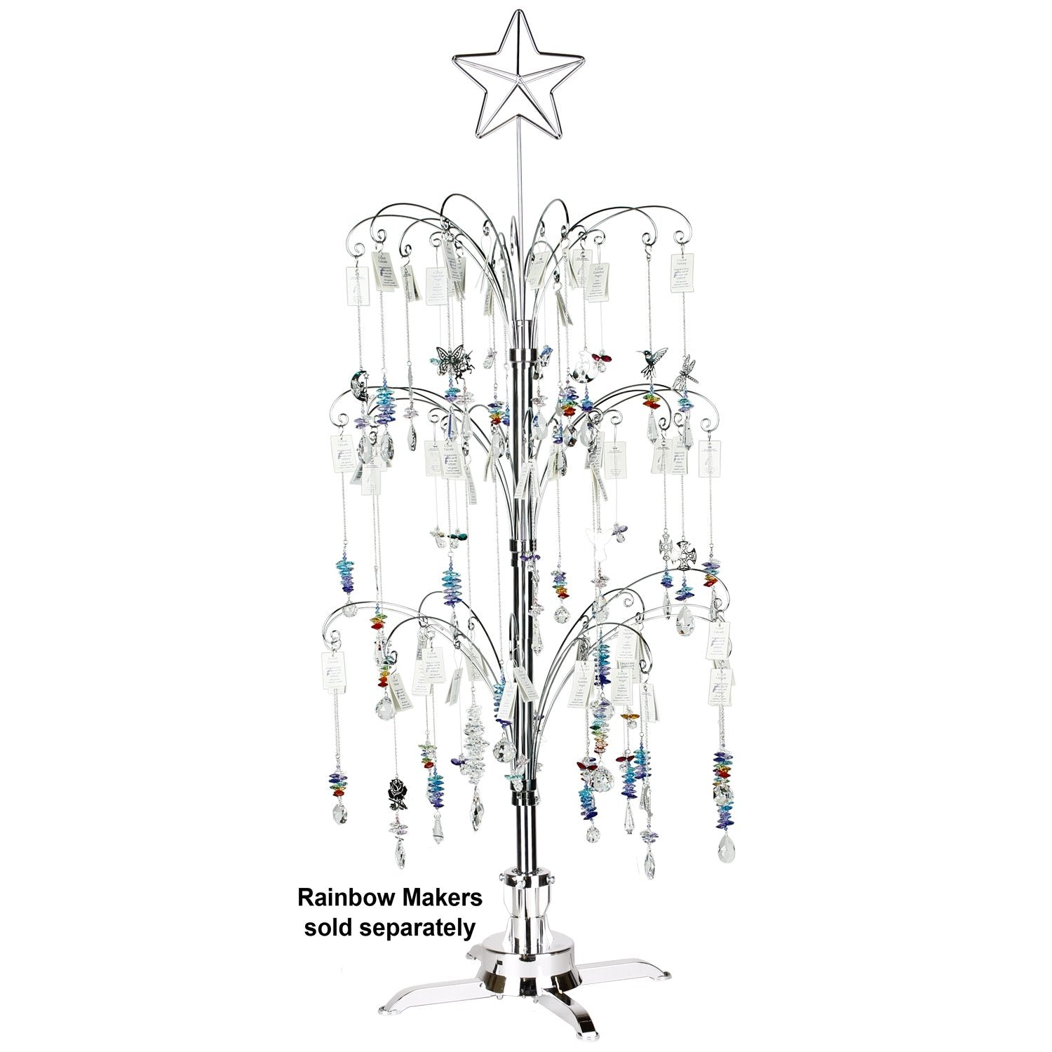 Fiddlehead Rotating 4-Foot Tree image with crystal suncatchers (sold separately)