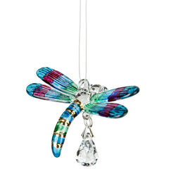 Fantasy Glass Suncatcher - Dragonfly, Spring Pastels main image