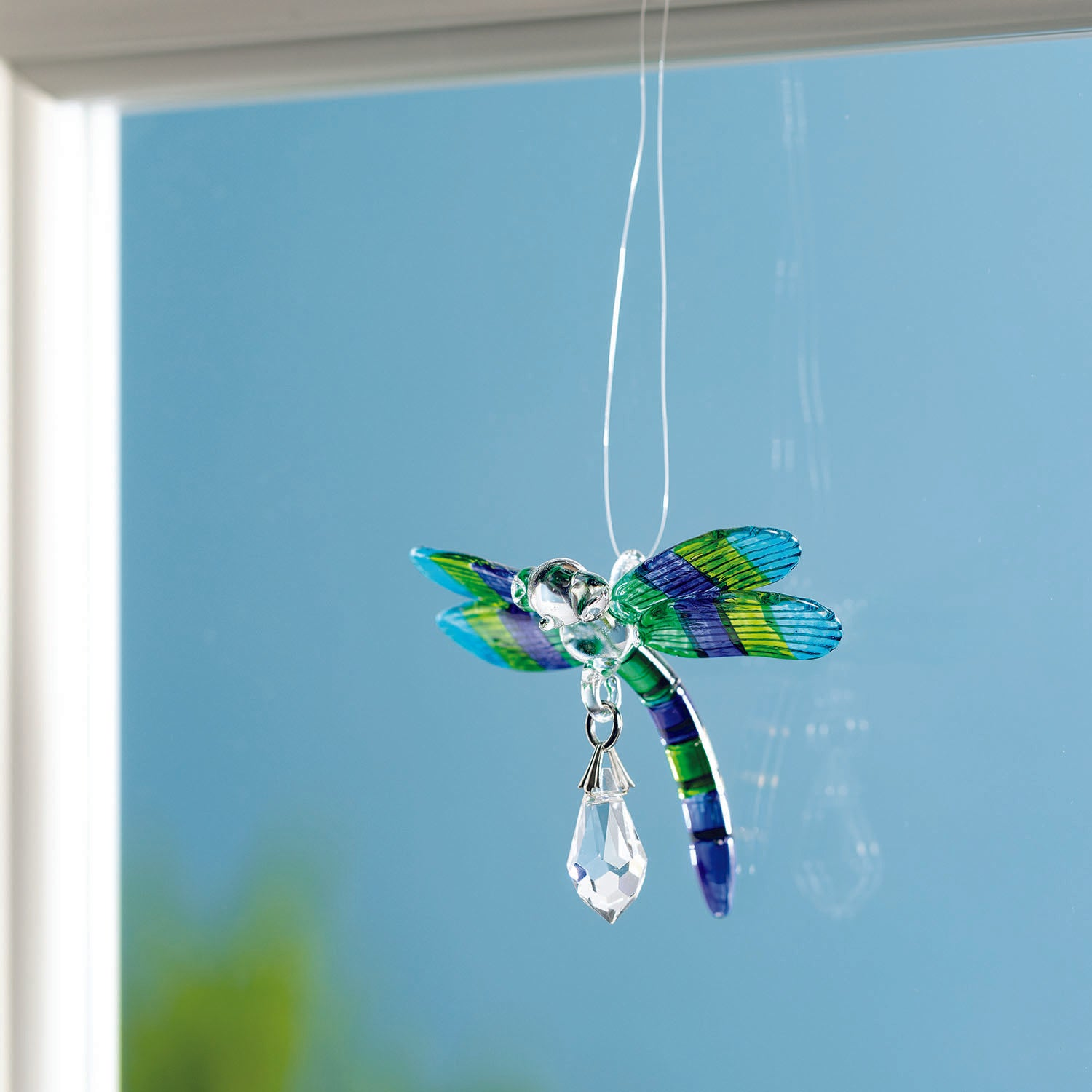 Fantasy Glass Suncatcher - Dragonfly, Peacock lifestyle image