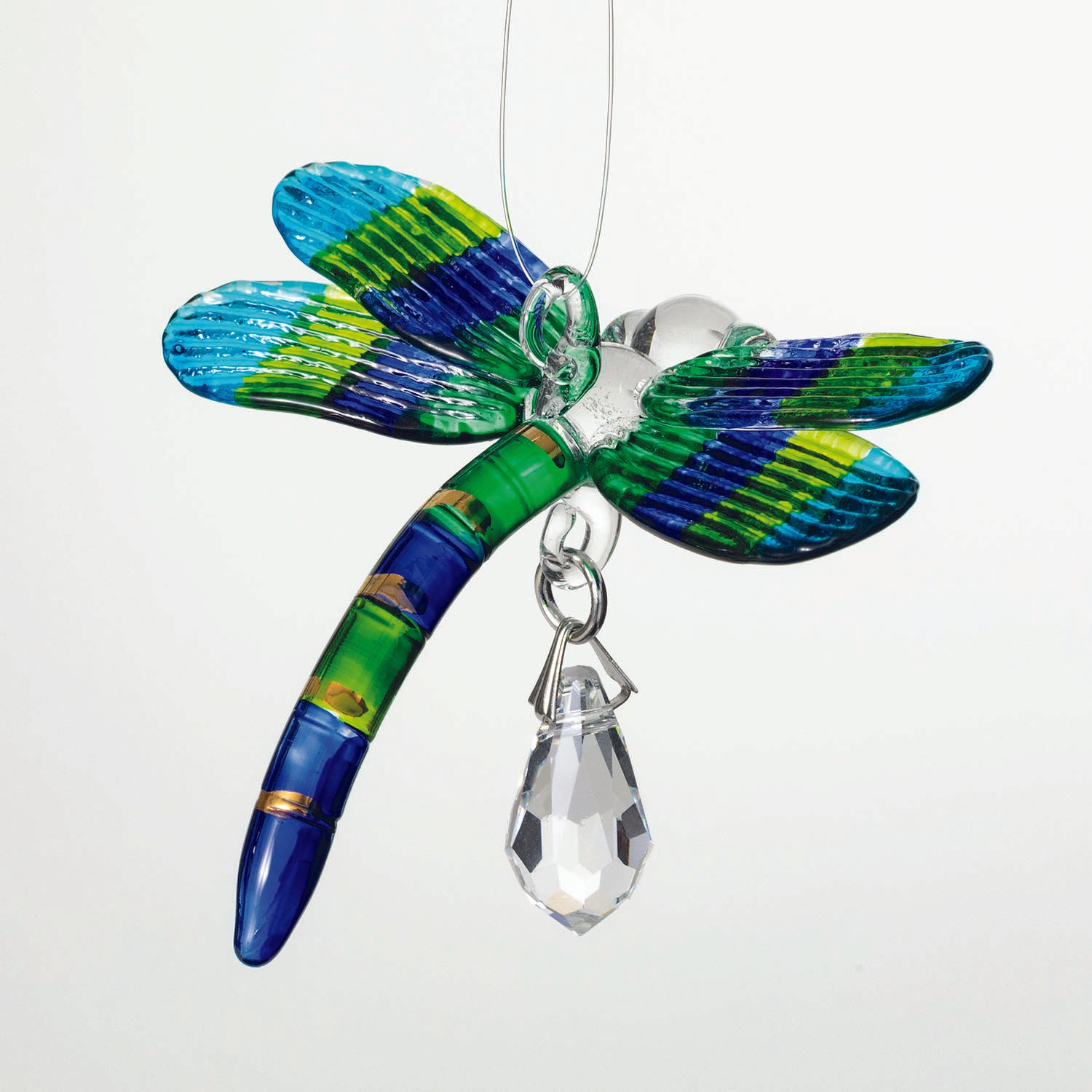 Fantasy Glass Suncatcher - Dragonfly, Peacock main image