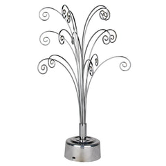Fiddlehead Rotating Tabletop Tree - Silver main image