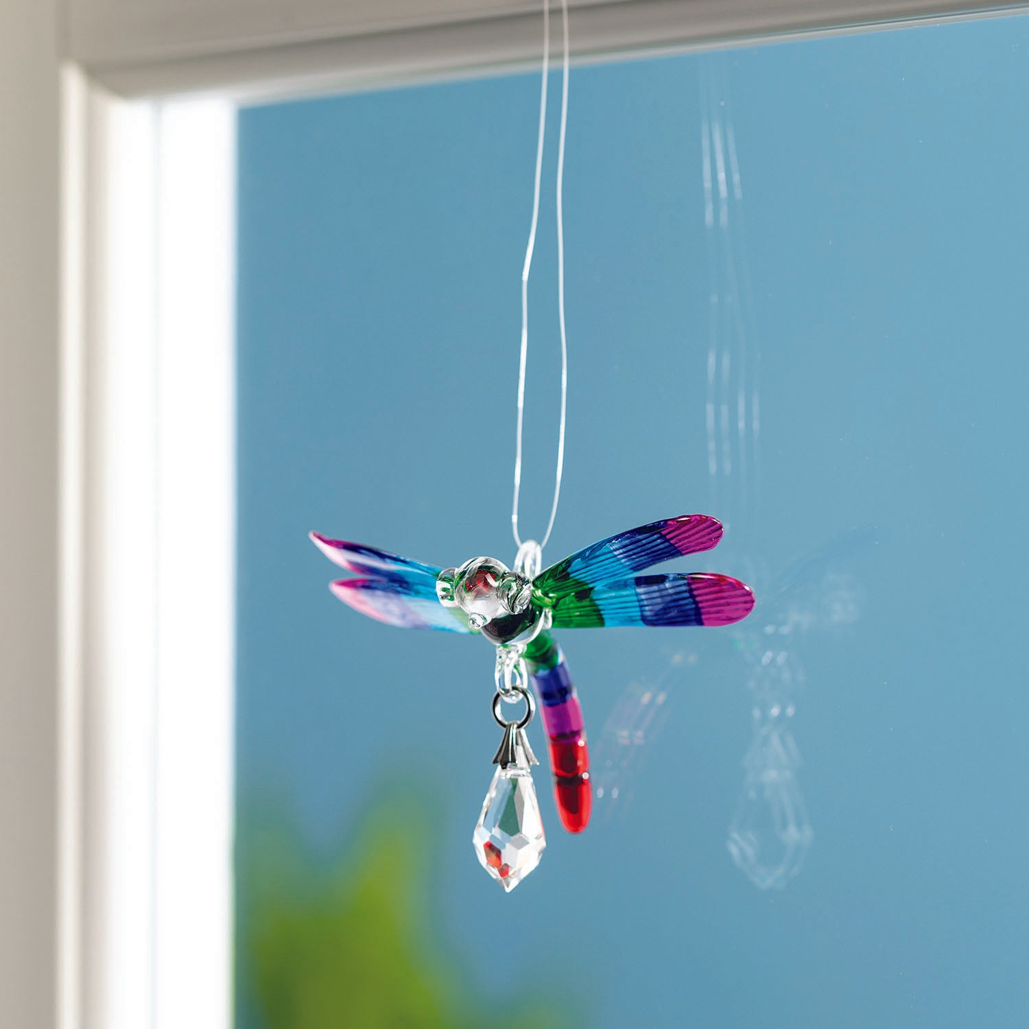Fantasy Glass Suncatcher - Dragonfly, Summer Rainbow lifestyle image