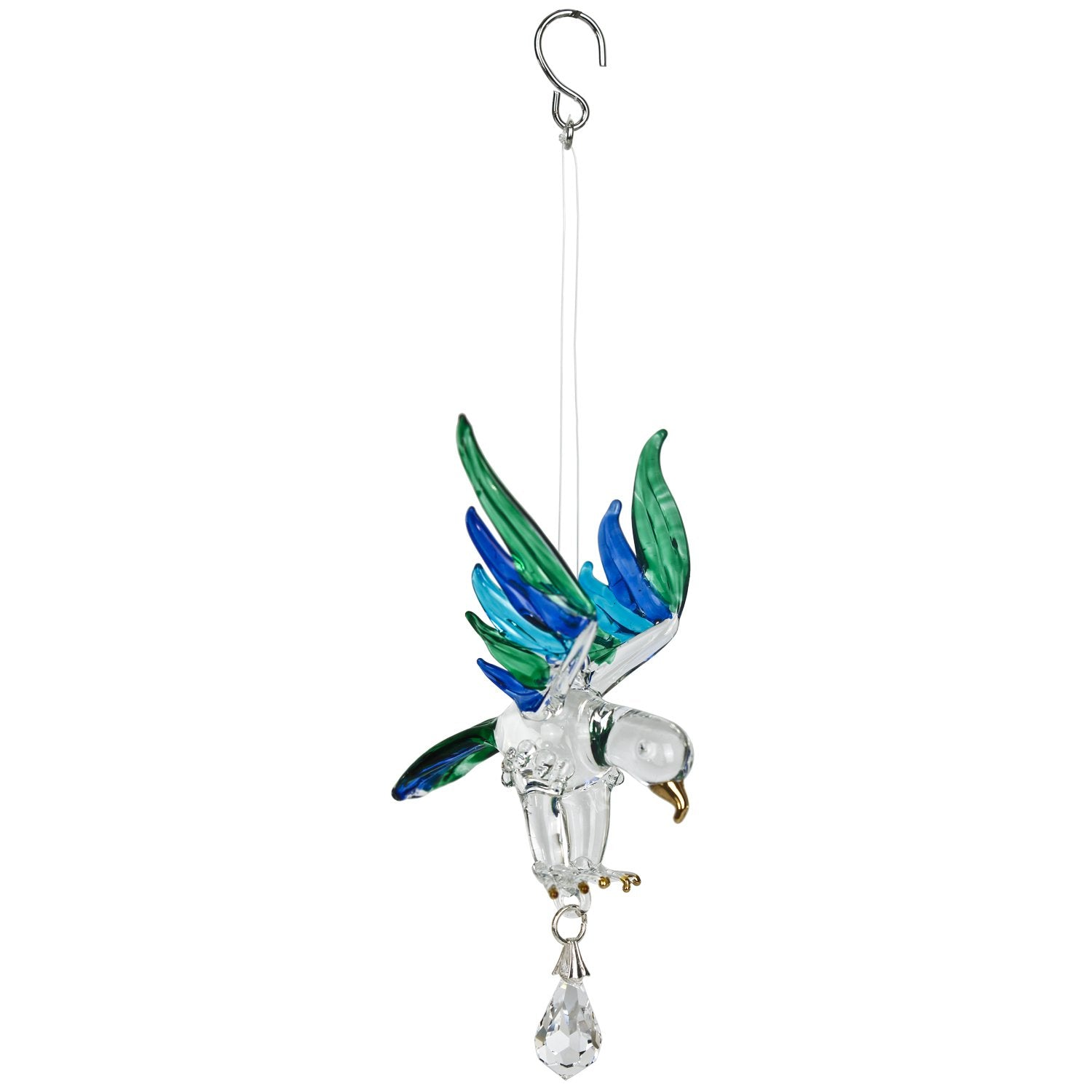 Fantasy Glass Suncatcher - Eagle, Peacock full product image