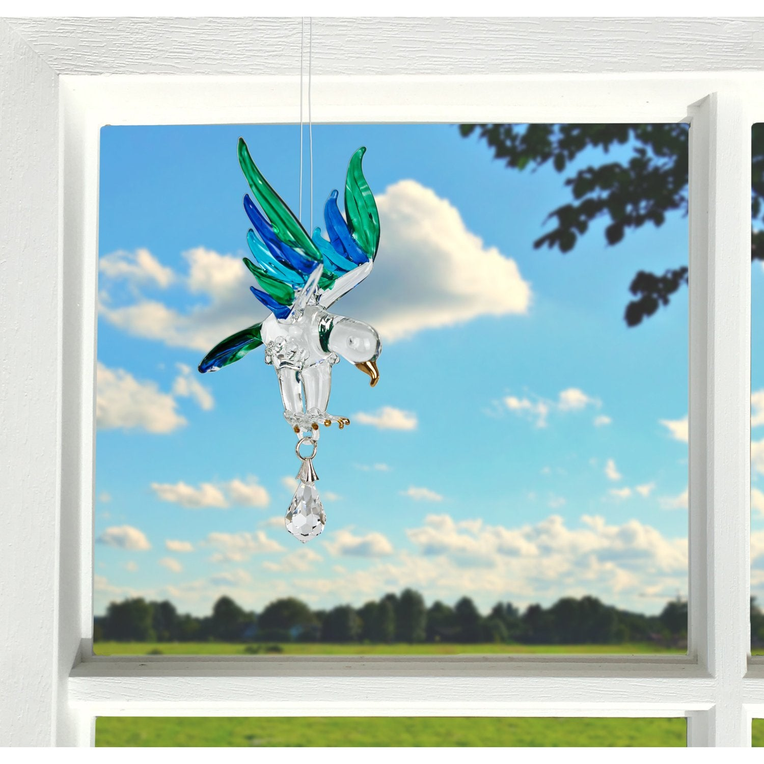 Fantasy Glass Suncatcher - Eagle, Peacock lifestyle image