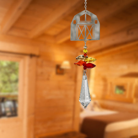 Crystal Fantasy Suncatcher - Barn proportion image