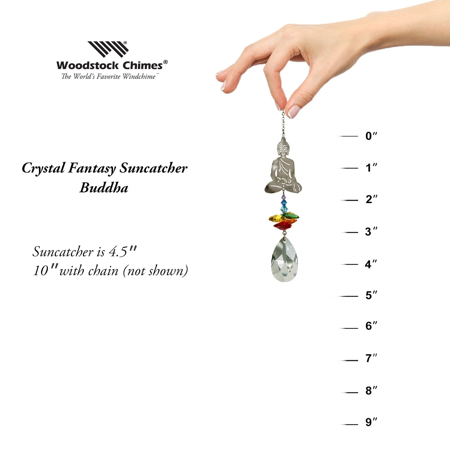 Crystal Fantasy Suncatcher - Buddha proportion image