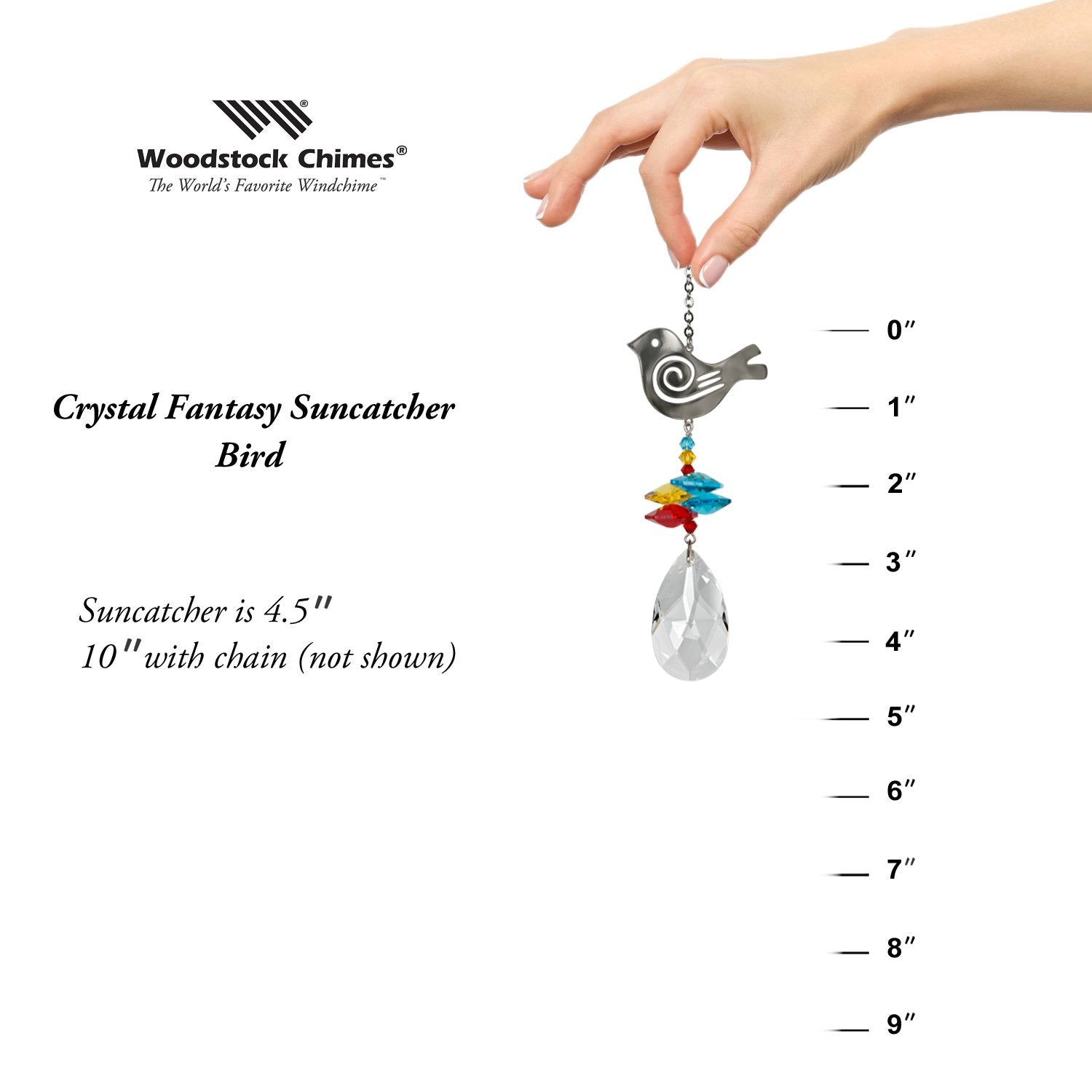 Crystal Fantasy Suncatcher - Bird proportion image