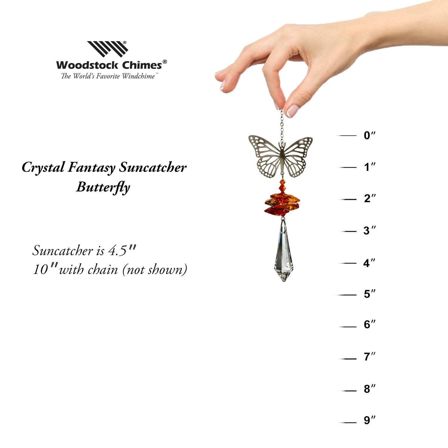 Crystal Fantasy Suncatcher - Butterfly proportion image
