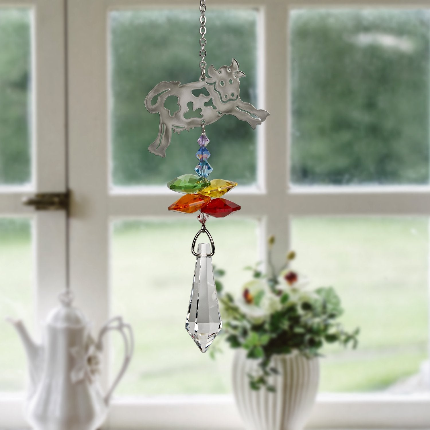 Crystal Fantasy Suncatcher - Cow lifestyle image