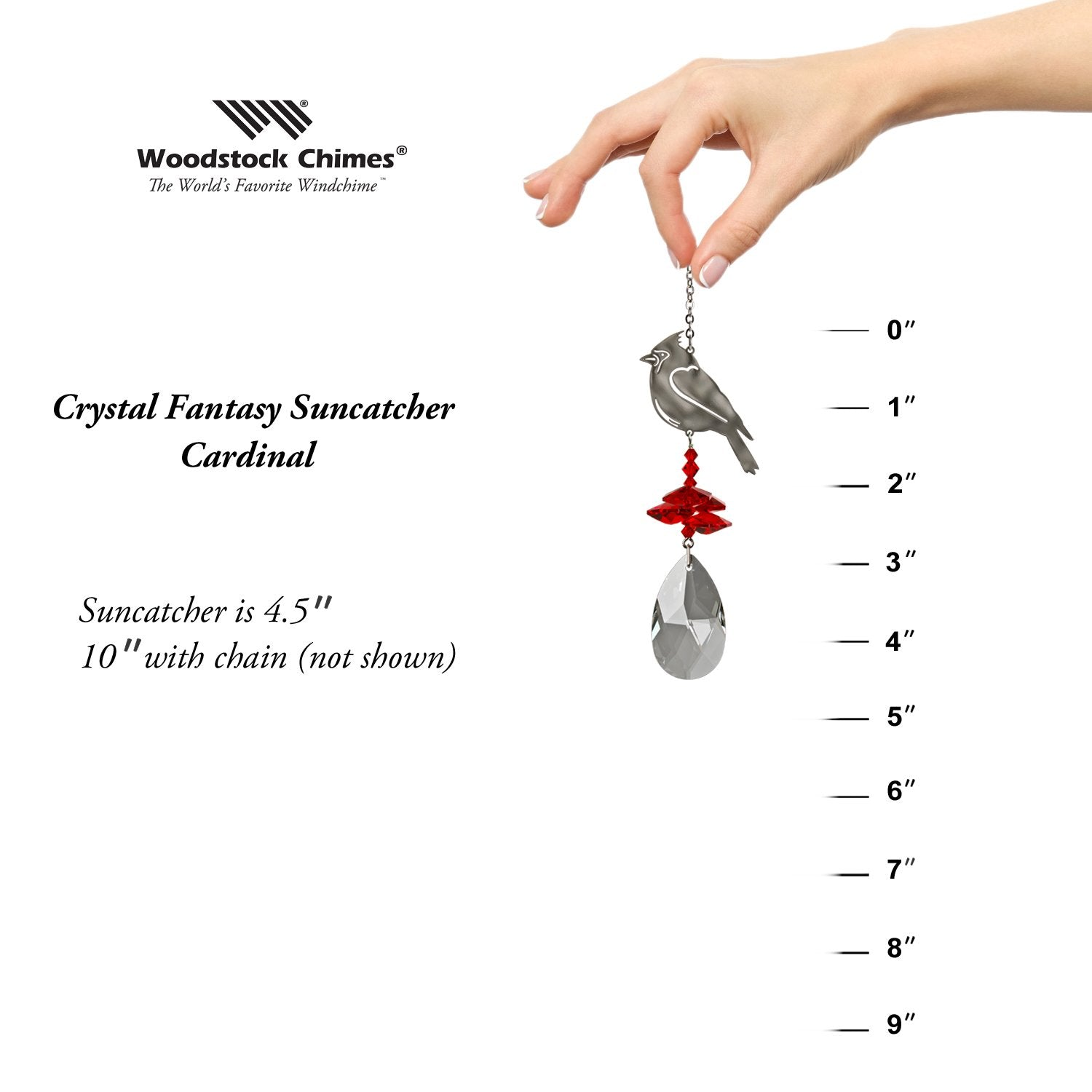 Crystal Fantasy Suncatcher - Cardinal proportion image