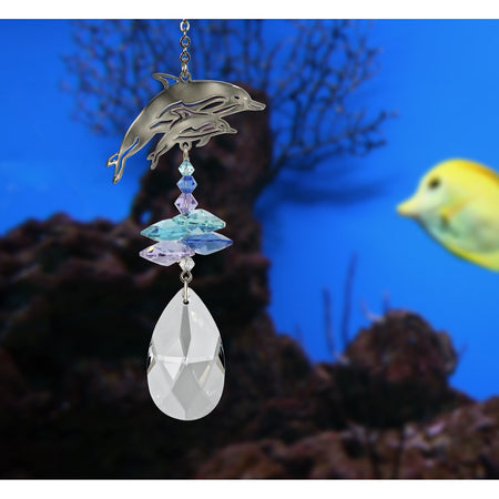 Crystal Fantasy Suncatcher - Dolphins proportion image