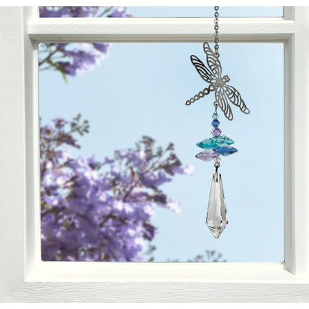 Crystal Fantasy Suncatcher - Dragonfly proportion image