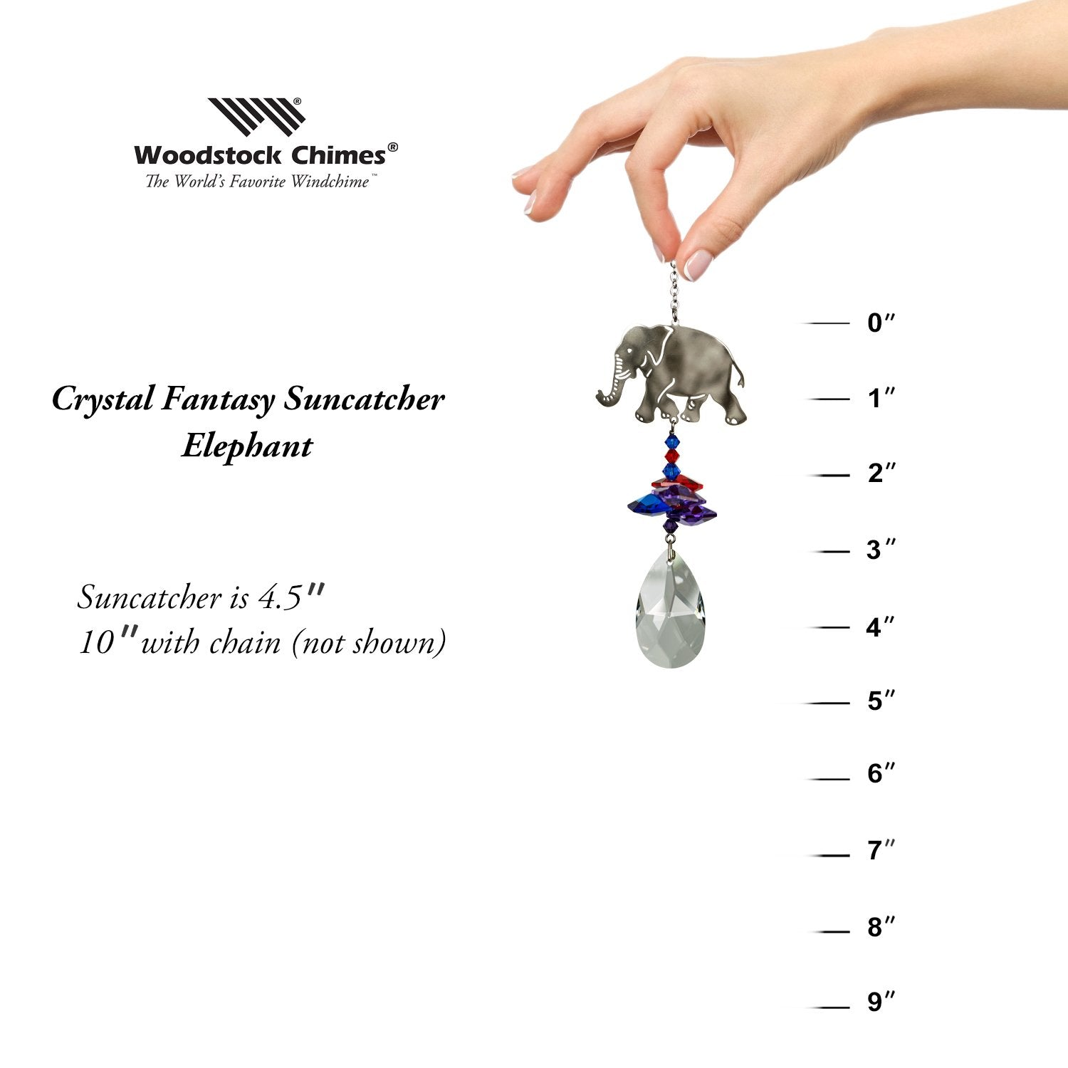 Crystal Fantasy Suncatcher - Elephant proportion image