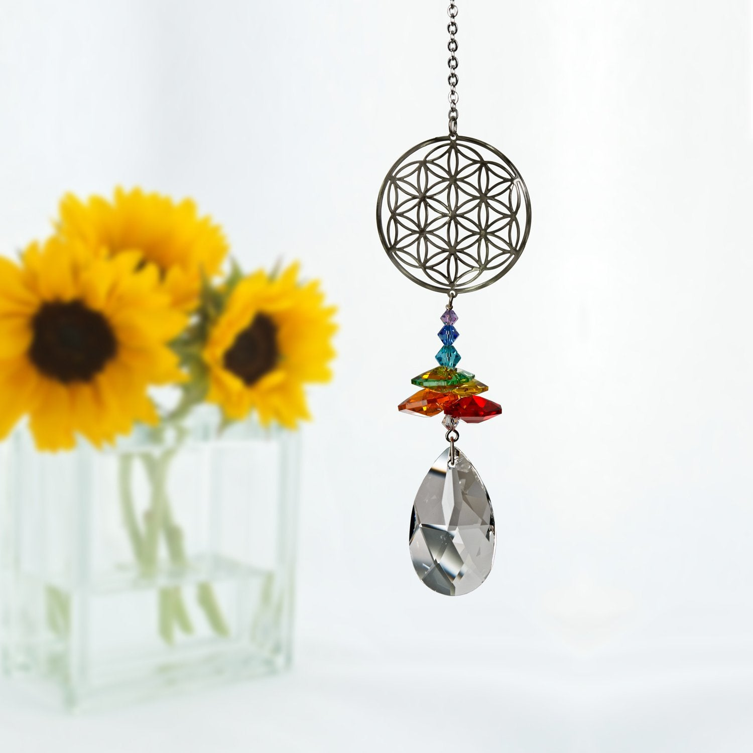 Crystal Fantasy Suncatcher - Flower of Life lifestyle image