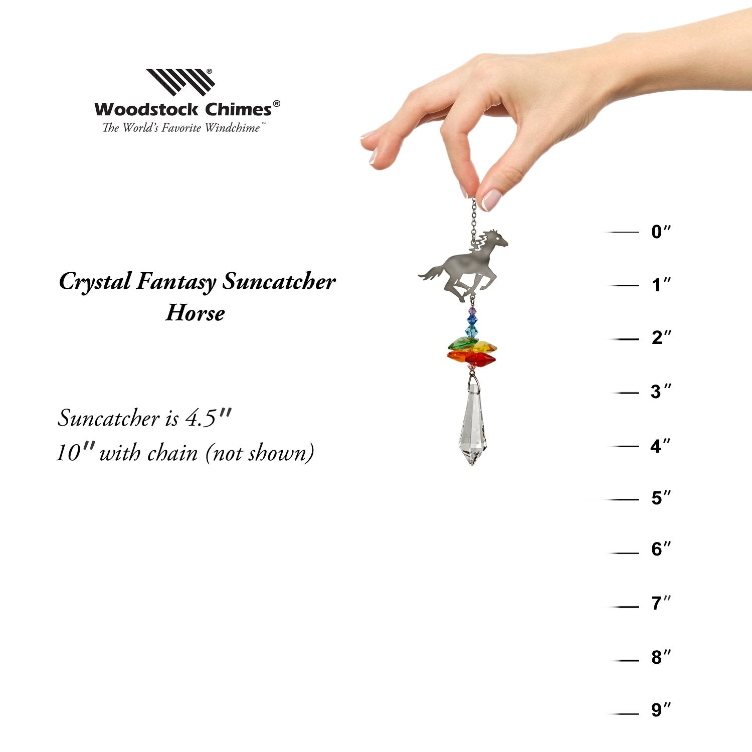 Crystal Fantasy Suncatcher - Horse proportion image