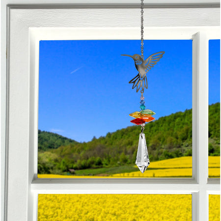 Crystal Fantasy Suncatcher - Hummingbird proportion image