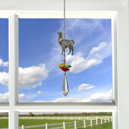 Crystal Fantasy Suncatcher - Llama proportion image